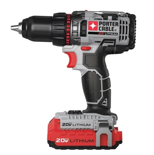 best cordless drill PORTER-CABLE PCCK600LB 20-volt 1/2-Inch Lithium Ion Drill/Driver Kit