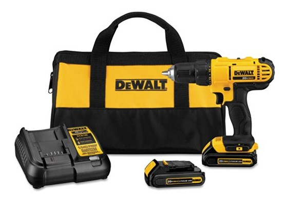 best cordless drill Dewalt DCD771C2 20V MAX Cordless Lithium-Ion 1/2 inch Compact Drill Driver Kit