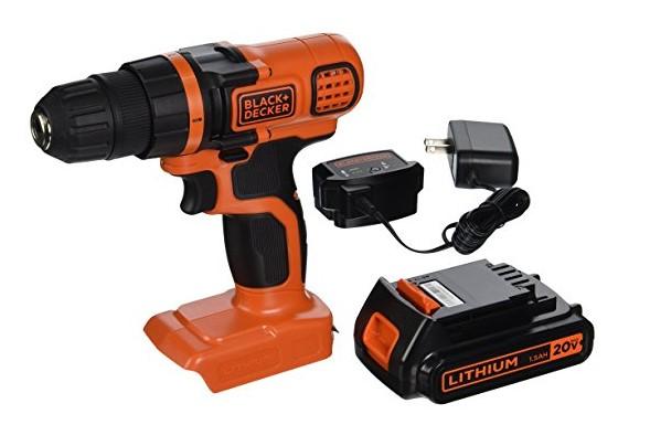 best cordless drill BLACK+DECKER LDX120C 20-Volt MAX Lithium-Ion Cordless Drill/Driver