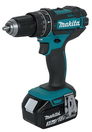 """best cordless hammer drills for concrete Most Ergonomic Cordless Hammer Drill for Concrete: Makita XPH102 18V LXT Lithium-Ion Cordless 1/2"""""""" Hammer Driver-Drill Kit (3.0Ah)"""