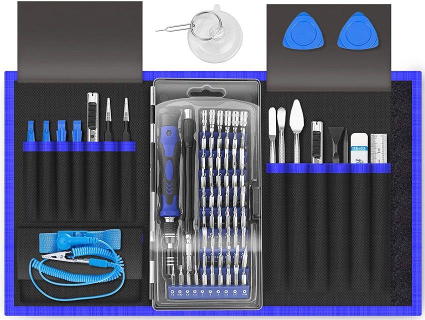 best electronic tool kit XOOL 80 in 1 Precision Set with Magnetic Driver Kit, Professional Electronics Repair Tool Kit with Portable Oxford Bag