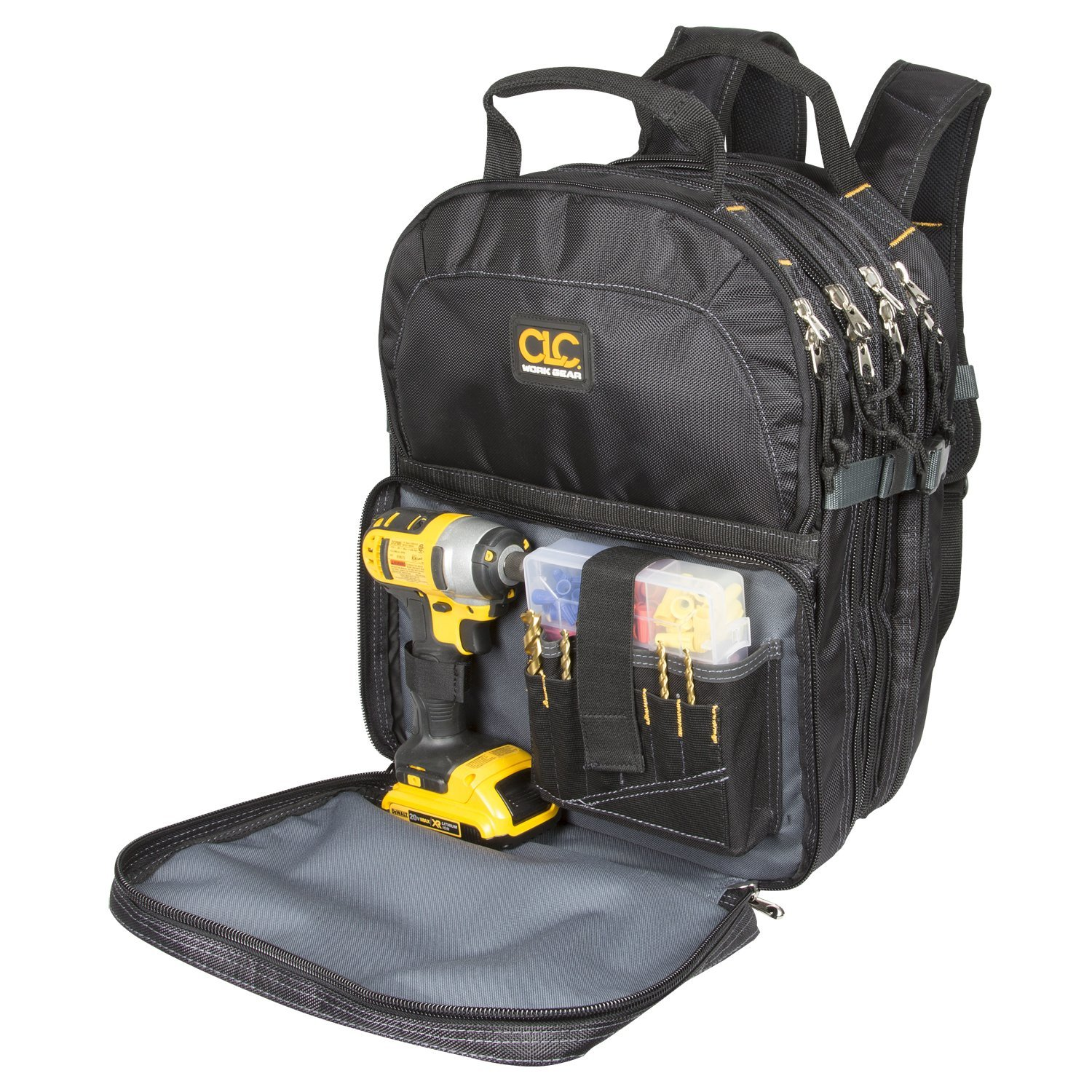 best tool backpack The Most Convenient Tool Backpack: Custom LeatherCraft 1132 75-Pocket Tool Backpack.