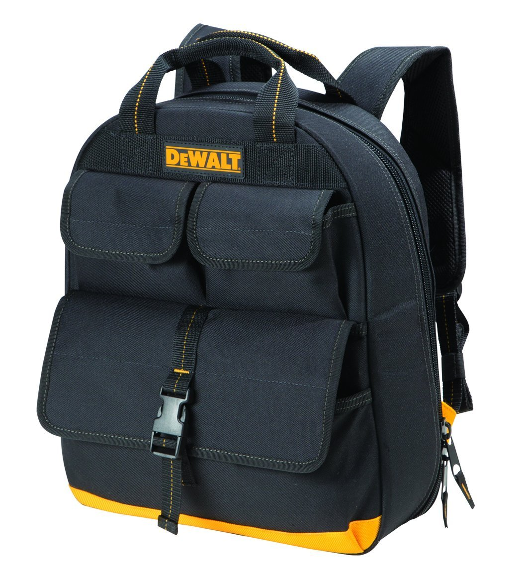 best tool backpack The Techie Choice: DeWalt DGC530 USB Charging Tool Back Pack With 23 Pockets.