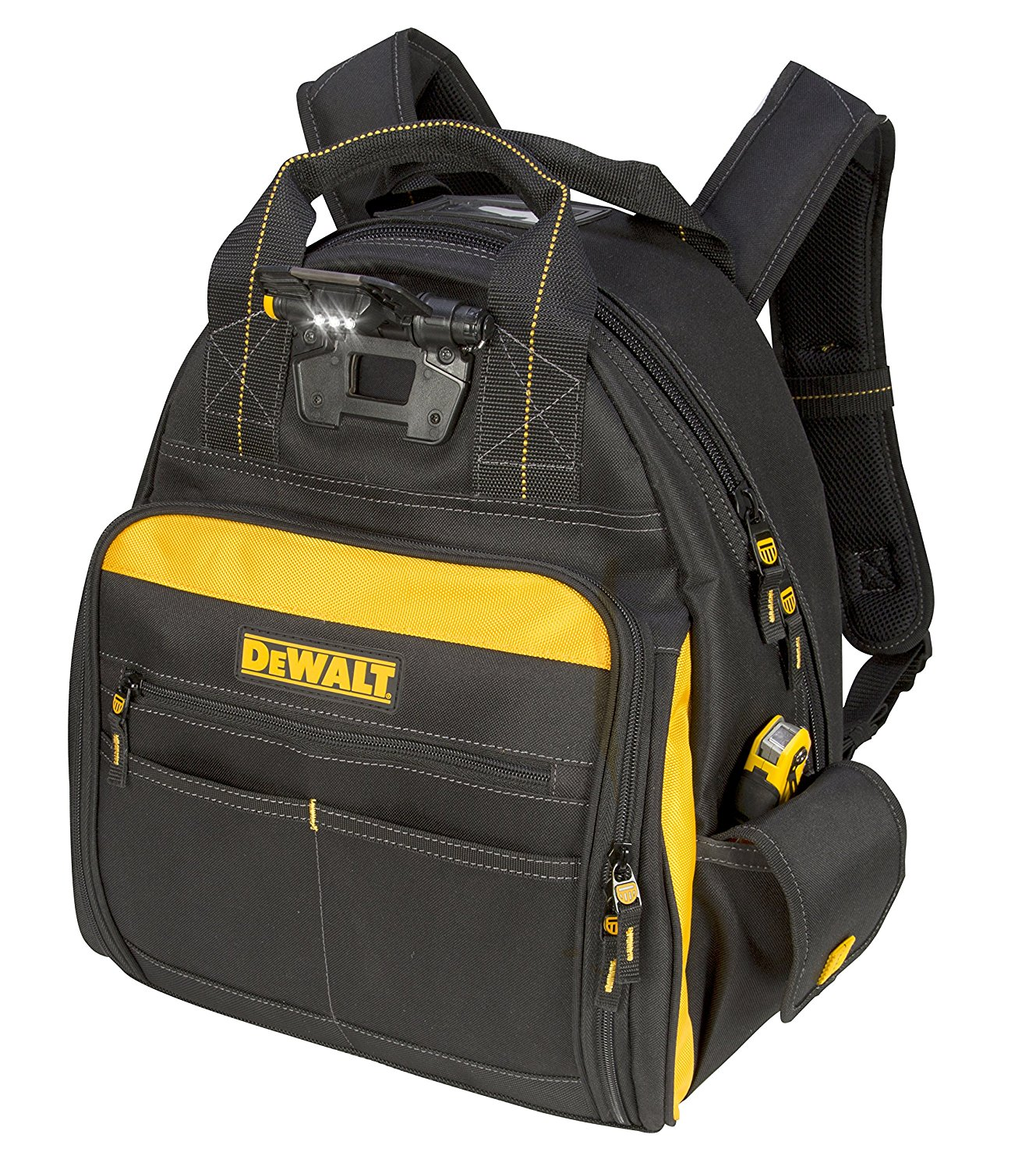 best tool backpack The Most Durable Tool Backpack: DEWALT DGL523 Lighted Tool Backpack Bag With 57-Pockets.