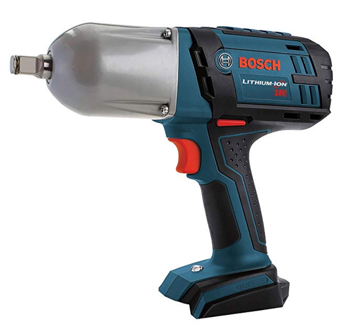 """Best Cheap Cordless Impact Wrench 1) Bosch Bare-Tool IWHT180B 18V Lithium-Ion 1/2"""" Square Drive High Torque Cordless Impact Wrench"""