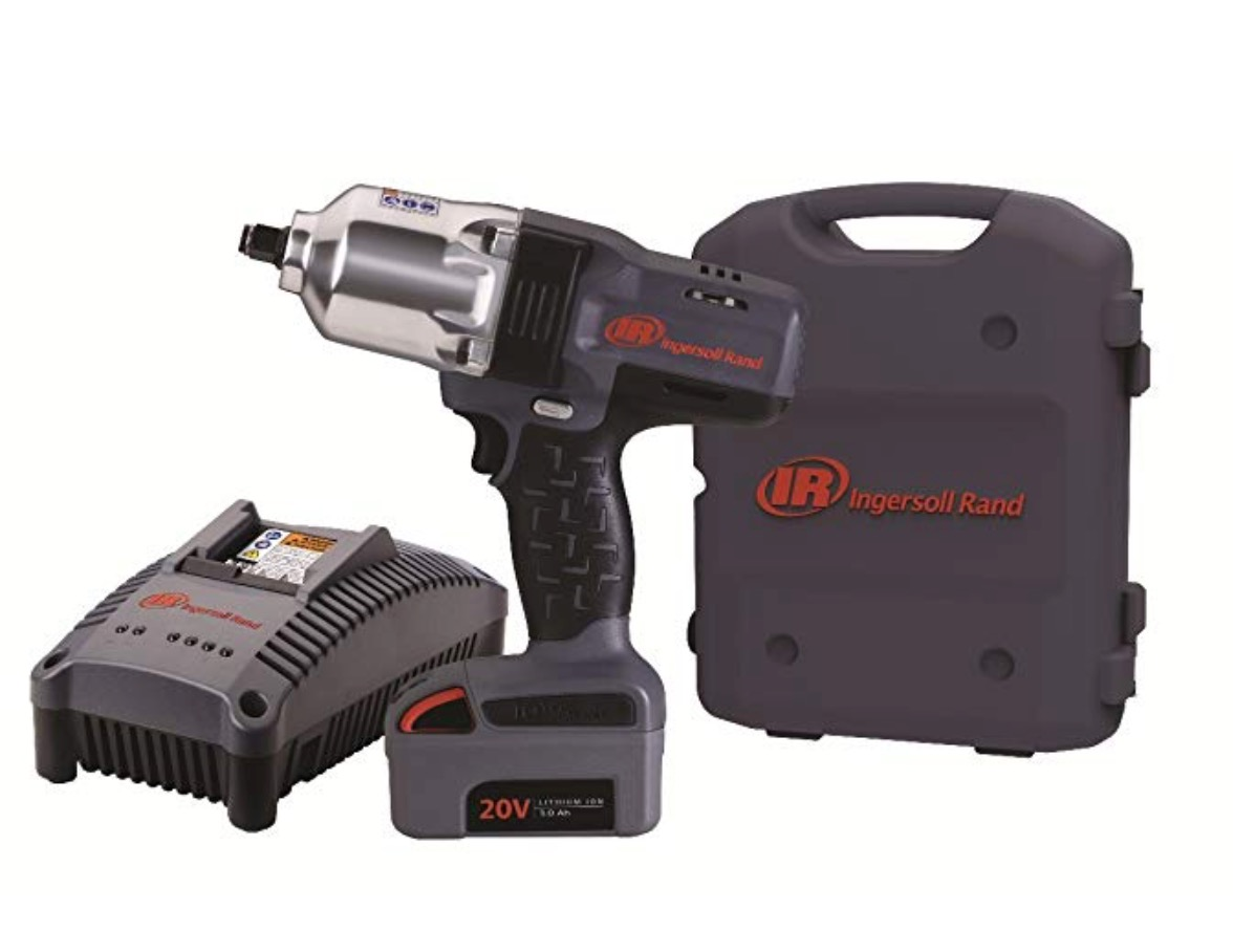 "Best Cordless Impact Wrench For Automotive Mechanics 3) Ingersoll Rand W7150-K1 ½"" Hi-Torque One Battery Automotive Cordless Impact Wrench Kit"