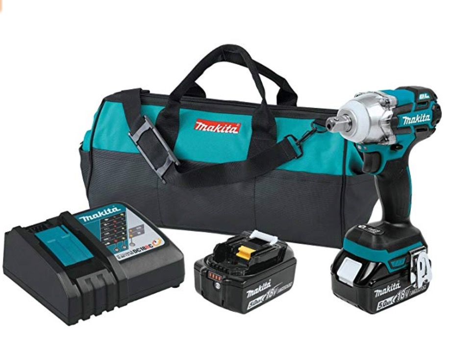 """Best Cheap Cordless Impact Wrench 4) Makita XWT11R 18V 1/2"""" LXT Lithium-Ion Brushless 3-Speed Cordless Impact Wrench"""