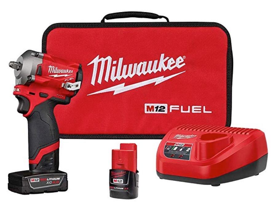 "Best Cheap Cordless Impact Wrench 5) Milwaukee 2554-22 M12 FUEL 12V 3/8"" Lithium-Ion Cordless Impact Wrench Kit"