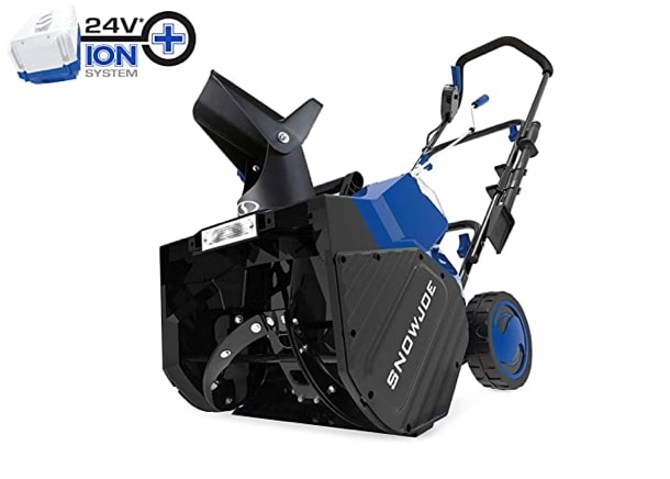 Best Electric Snow Blower For Heavy Snow 2) Snow Joe 24V-X2-SB18 48-Volt iON+ Electric Snow Blower for Heavy Snow