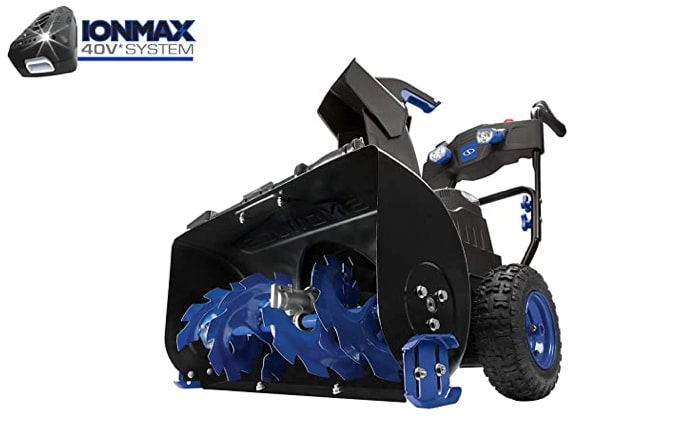 Best Electric Snow Blower For Heavy Snow 3) Snow Joe iON8024-XR 80-Volt iONMAX Cordless Electric Snow Blower for Heavy Snow
