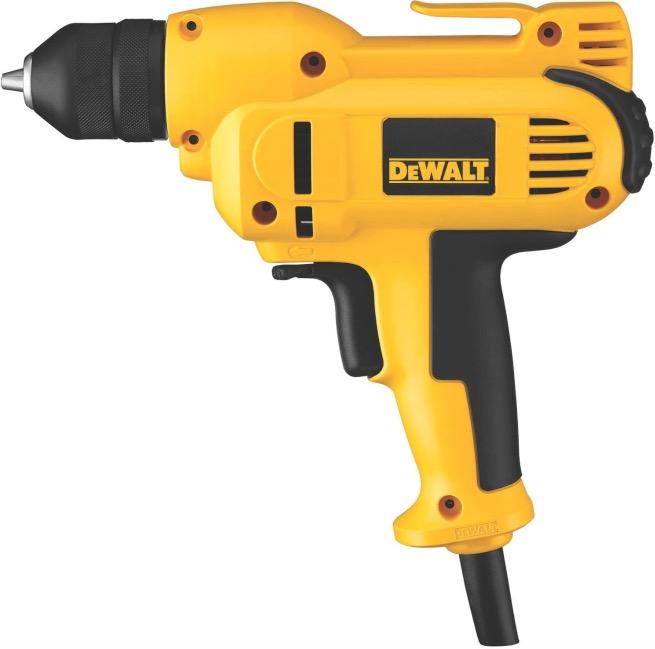 Best Corded Drill For Woodworking 1. DEWALT DWD115K 8.0-Amp, 3/8-Inch, Mid-Handle Grip Corded Drill for Woodworking
