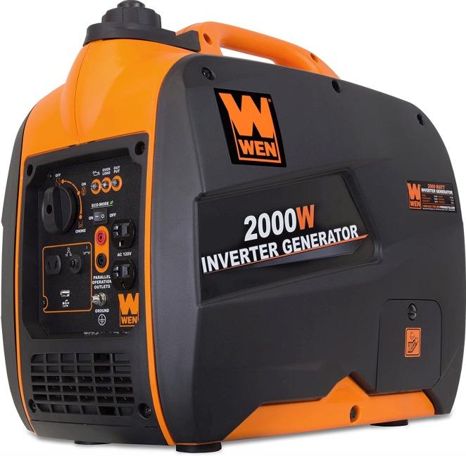 Best Generator For Home Backup 1. WEN 56200i 2000-Watt Gas Powered Portable Inverter Generator for Home Backup