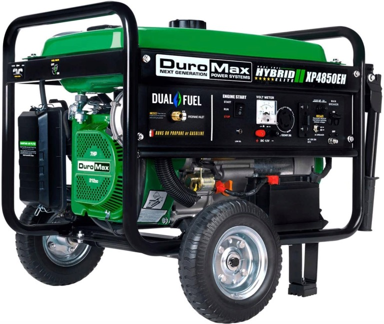 Best Generator For Home Backup 2. DuroMax XP4850EH Dual Fuel Portable Generator for Home Backup