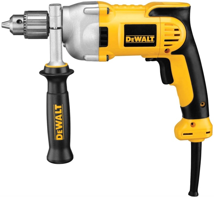 Best Corded Drill For Woodworking 3. DEWALT (DWD210G), Pistol-Grip, 1/2-Inch, 10-Amp Corded Drill for Woodworking