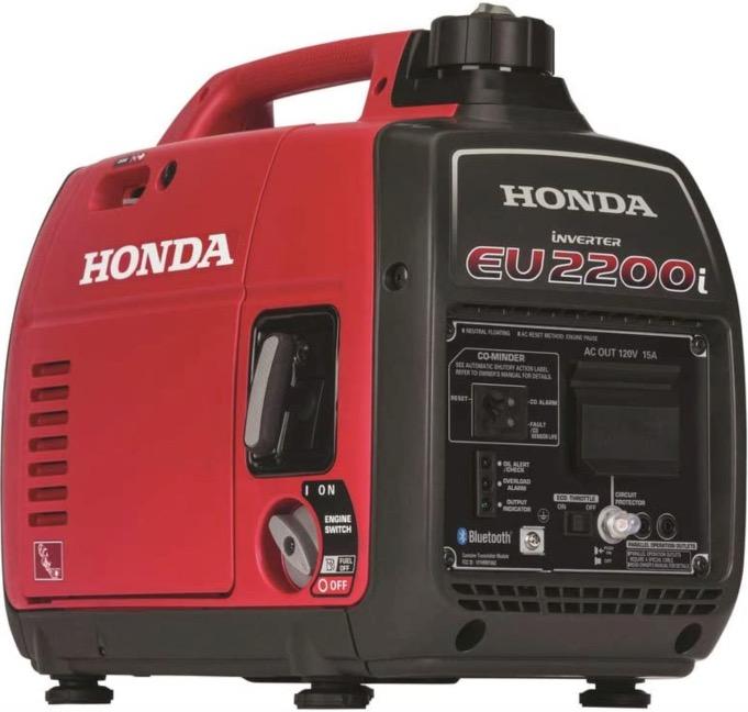 Best Generator For Home Backup 3. Honda 663520 EU2200 120V 2200-Watt 0.95 Gallon Portable Inverter Generator with Co-Minder
