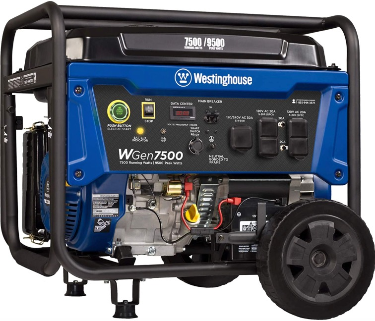 Best Generator For Home Backup 4. Westinghouse WGen7500 7500 Rated Watts & 9500 Peak Watts Generator for Home Backup