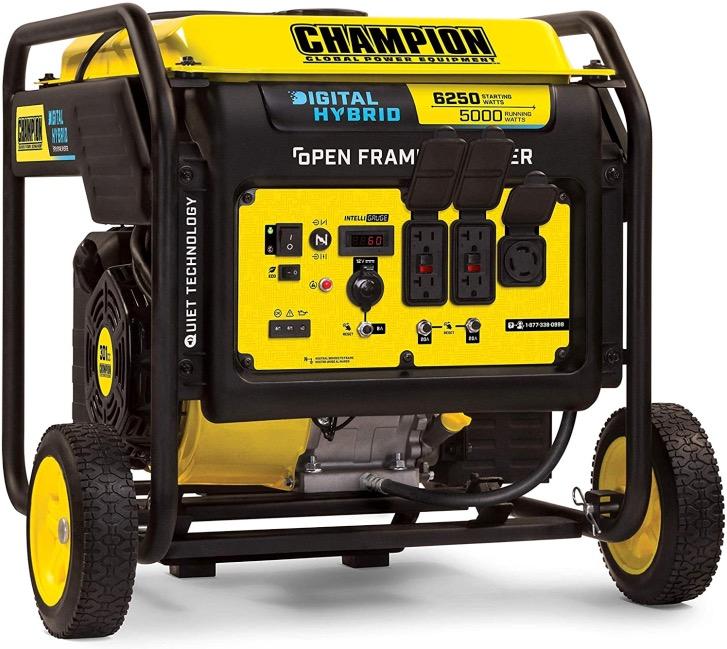 Best Generator For Home Backup 5. Champion 6250-Watt DH Series Open Frame Generator for Home Backup