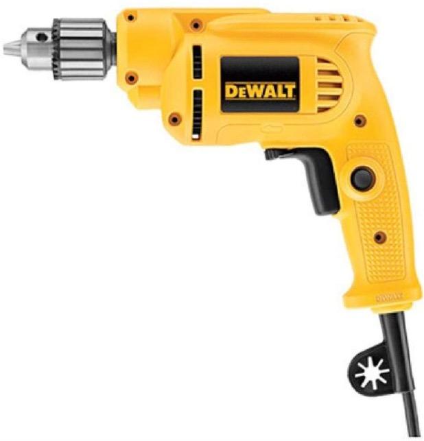 Best Corded Drill For Woodworking 6. DEWALT DWE1014 with Keyed Chuck, 7.0-Amp, 3/8-Inch Corded Drill for Woodworking