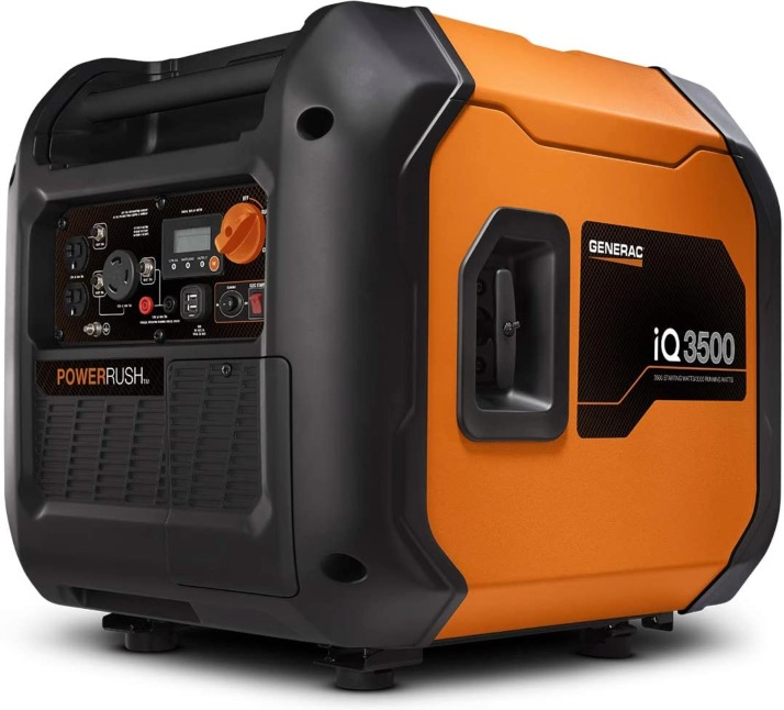 Best Generator For Home Backup 6. Generac 7127 iQ3500-3500 Watt Portable Inverter Generator for Home Backup