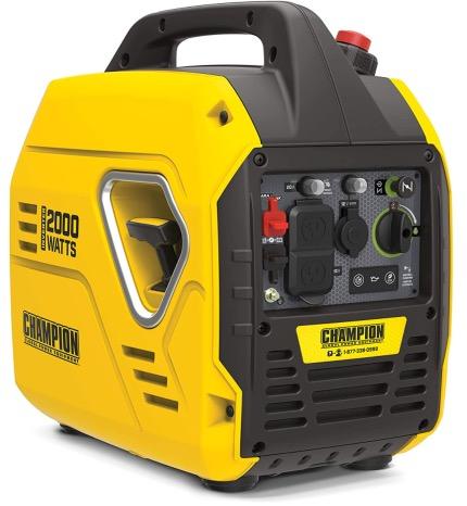 Best Generator For Home Backup 7. Champion Power Equipment 100692 2000-Watt Ultralight Portable Inverter Generator for Home Backup