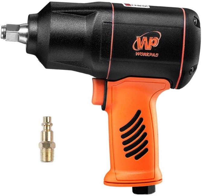 Best Air Cheap Impact Wrench For The Money 8. WORKPAD 1/2-Inch Composite Air Impact Wrench with Twin Hammers, Pneumatic Tools