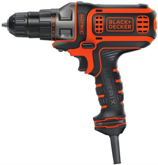 Best Corded Drill For Woodworking 8. BLACK+DECKER (BDEDMT) 3/8-Inch, 4-Amp Corded Drill for Woodworking