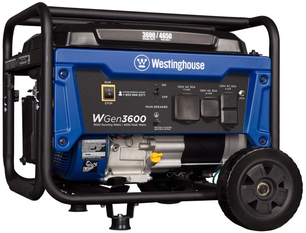 Best Generator For Home Backup 8. Westinghouse WGen3600 Portable Generator for Home Backup