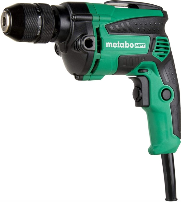 Best Corded Drill For Woodworking 9. Metabo HPT (D10VH2) 7-Amp, 3/8-Inch, Metal Keyless Chuck, Corded Drill for Woodworking
